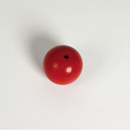 Korálek dřevěný 25 mm - červený - 1 ks