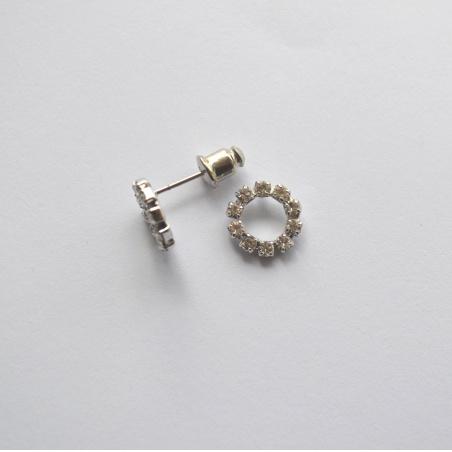 Naušnice kroužek - crystal R00