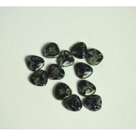 Korálky - 10 g - melír lísteček