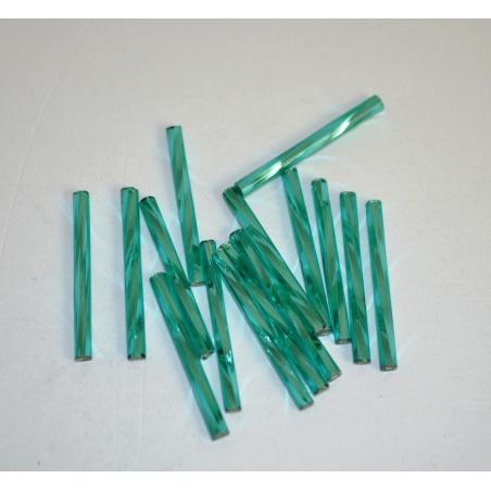 Trubičky - průhl.zelená kroucená