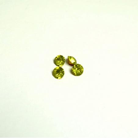 Krystal swarovski - žlutozelená 6,5mm -4 ks
