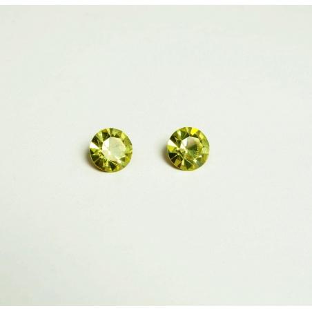 Krystal swarovski - žlutozelená 11 mm - 2 ks