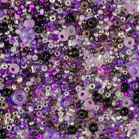 Rokajlová freeform směs - fialková směs