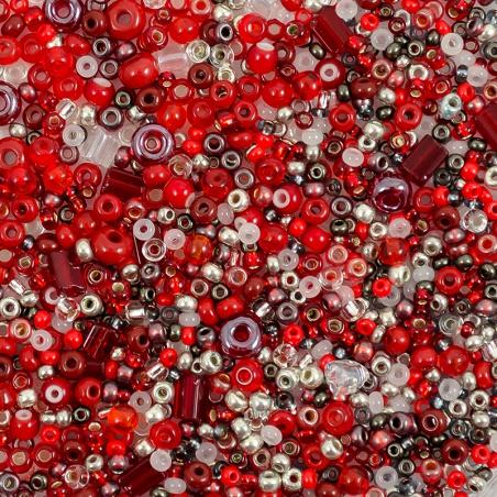 Rokajlová freeform směs - červená