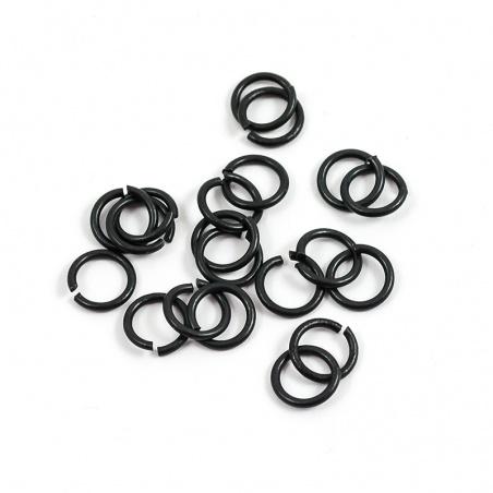 Spojovací kroužky černé 7 mm - 3g