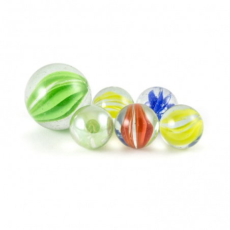 Cvrnkací kuličky - stuhy mix barev