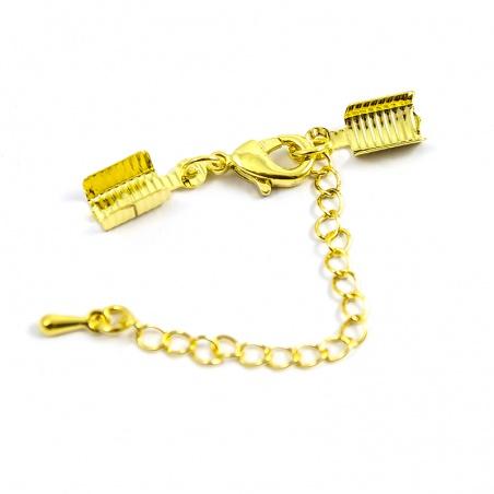 Adjustační řetízek s kalotou - 1 ks zlatý