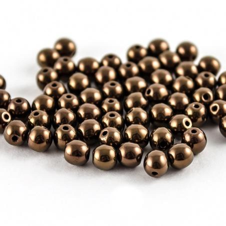 Sáček 5 g - kuličky 4 mm, hnědé opakní