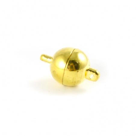 Magnetické zapínání - kulička 10 mm zlatá