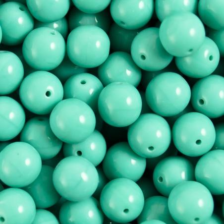 Korálky 10 g - tyrkysové kuličky 8 mm