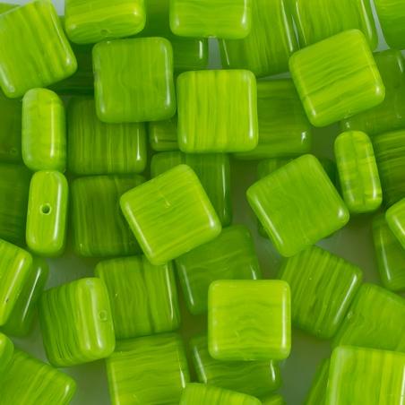 Korálky I.jak / 0,5 kg - zelené čtverečky