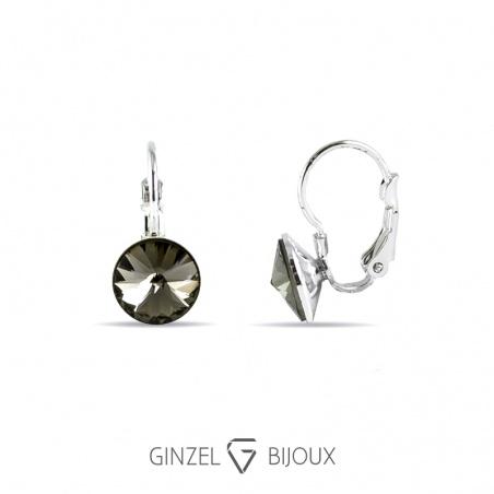 Naušnice - klapka,stří.black diamond