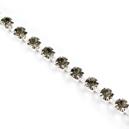 Štrasový pásek ss 12 - black diamond