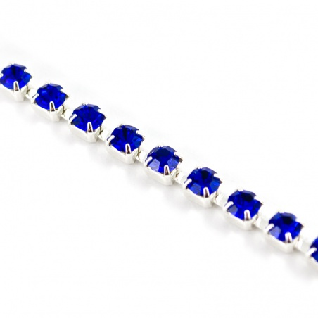 Štrasový pásek ss 8,5 - sapphire