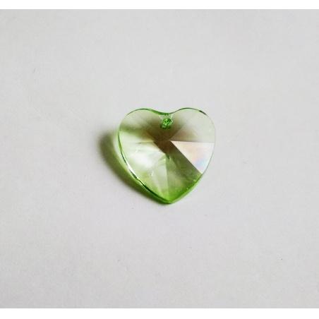 Krystal srdce malé - světle zelená