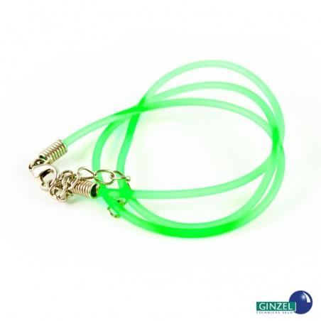 Silikonová šňůrka - neonově zelená