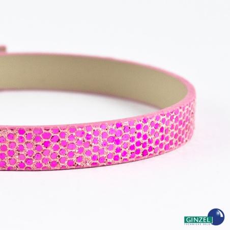 Náramkový pásek, 20 cm - růžový