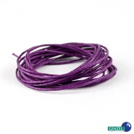 Vosková šňůra 2 m - fialová