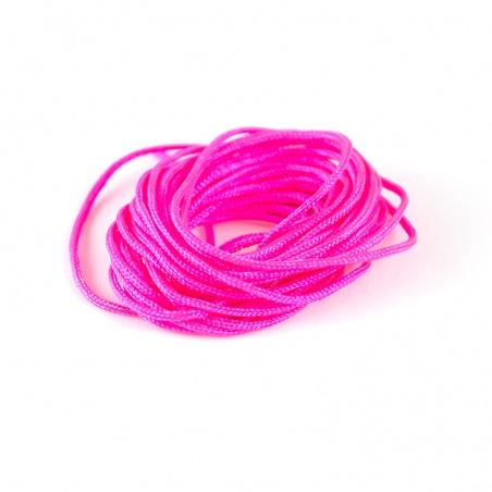 Nylon. šňůrka - růžová neonová, 2m
