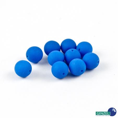 Neonové korálky - sv. modrá, 8 mm, 10 ks