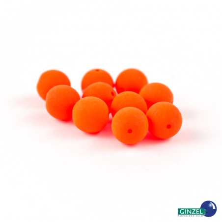 Neonové korálky - oranžové, 8 mm, 10 ks