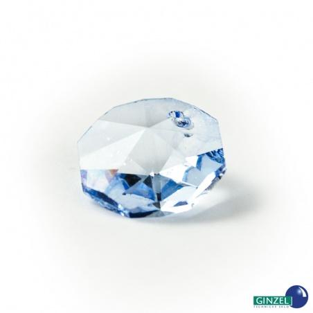 Krystal - hlavička safírově modrá, 14 mm