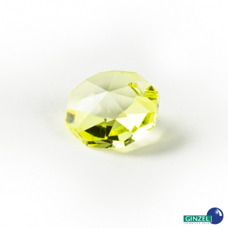 Krystal - hlavička žlutá, 14 mm