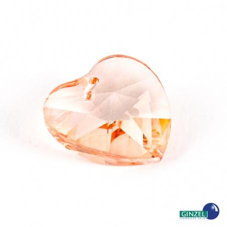 Krystal srdce malé - oranžové