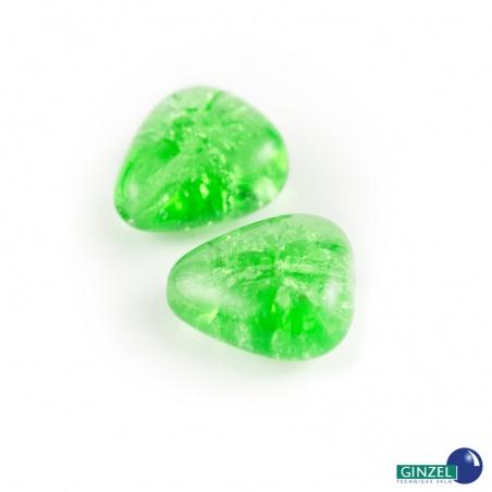 Praskačky 15 mm - zelené srdce - 2 ks