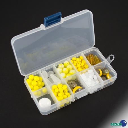 Korálky broušené set 150 g - žluto bílý