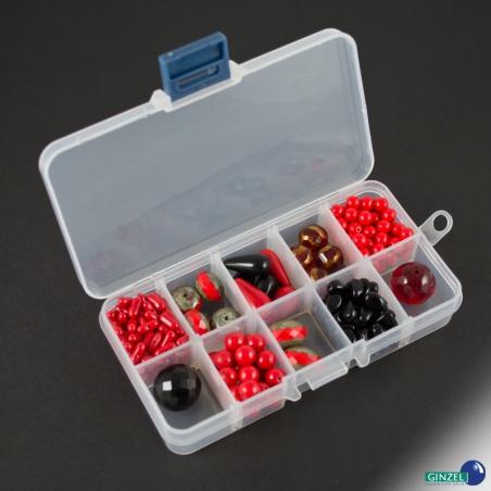 Korálky broušené set 150 g - červený