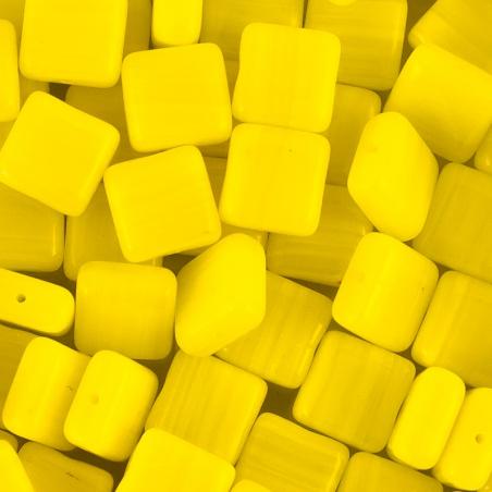 Korálky I.jak / 0,5 kg - žluté čtverečky