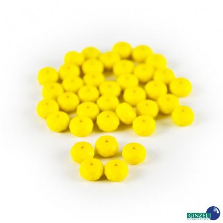 Rondelky žluté opakní - 4 mm, 10 g