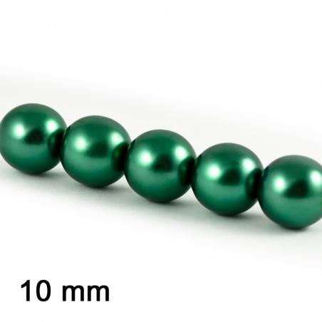 Voskové perle 10 mm - tmavý tyrkys 5 ks