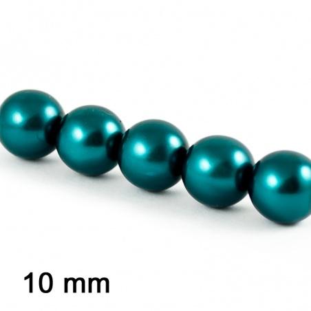 Voskové perle 10 mm - m. tyrkys 5ks