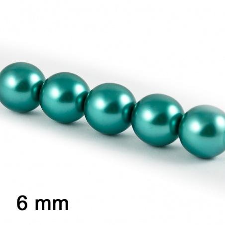 Voskové perle 6 mm - tyrkys 15 ks
