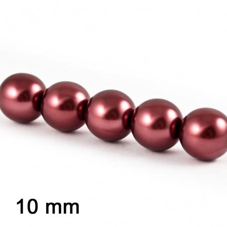 Voskové perle 10 mm - vínová 5 ks