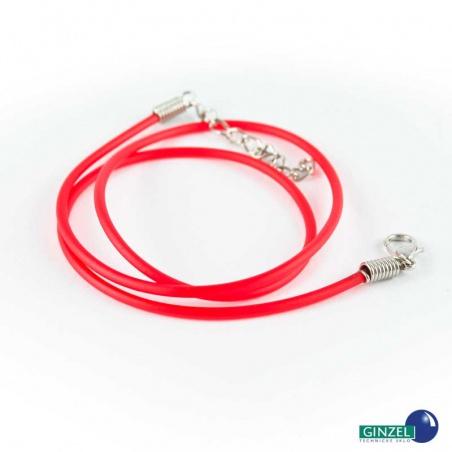 Silikonová šňůrka - červená
