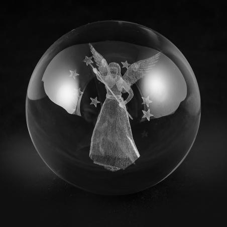 Koule 80 mm s 3D motivem - anděl - žena