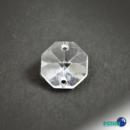 Krystal - hlavička dvoudírka, 12mm