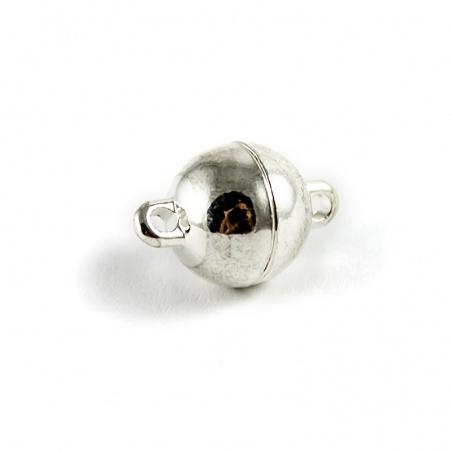 Magnetické zapínání - kulička 10 mm stříbrná