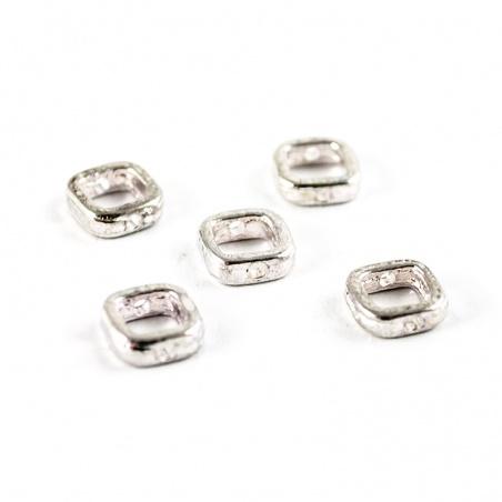Mezidíl - obroučka čtverec stříbro 5 ks