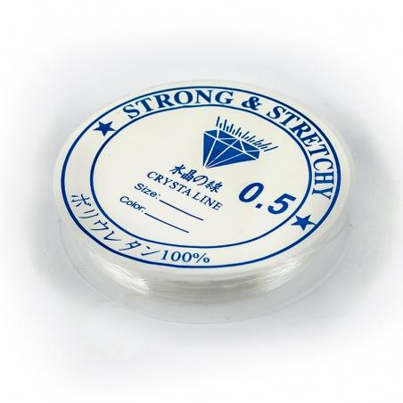 Gumička průhledná elastická 0,5 mm, 13 m