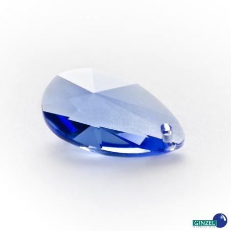 Krystal - slza - modrý safír