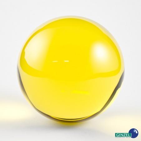 Dekorační koule 60 mm - žlutá