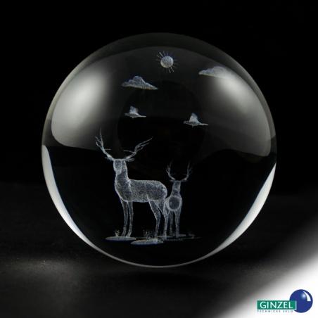 Koule 80 mm s 3D motivem - jeleni