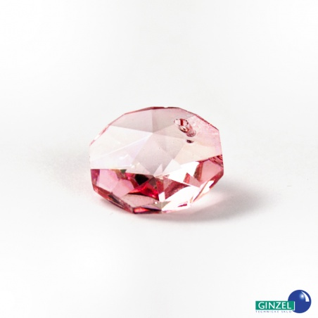 Krystal - hlavička červená, 14 mm
