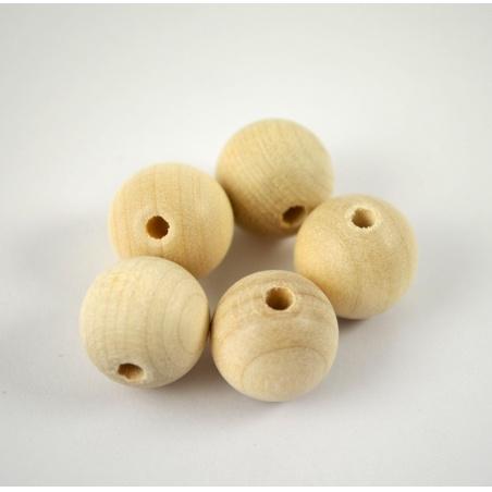 Dřevěné korálky - 5 ks