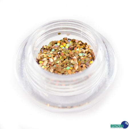 Polyester Glitter 2504/ 51A-3hex laser gold