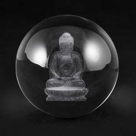 Koule 80 mm s 3D motivem - budha
